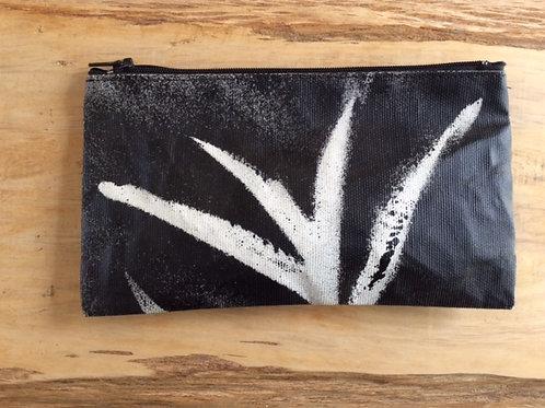 Hand painted canvas case. zipper pouch