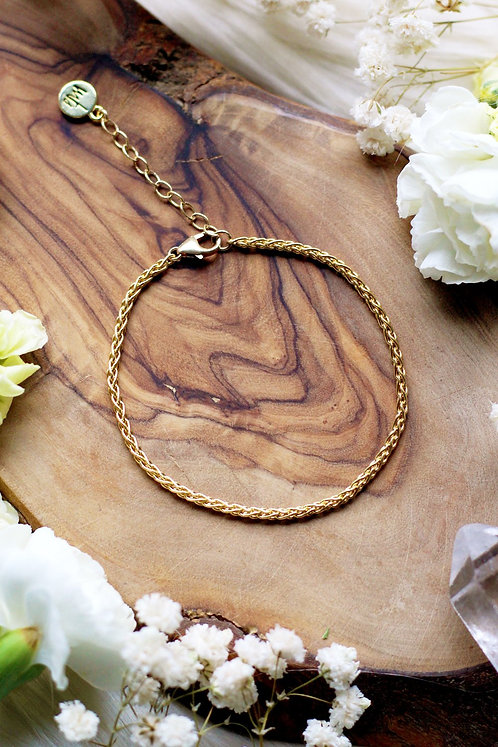 Cultivate Wheat Chain Solo Gold Bracelet