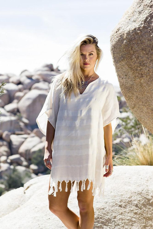 Hava Tunic/Cover Up 50% linen/50% Turkish cotton Natural