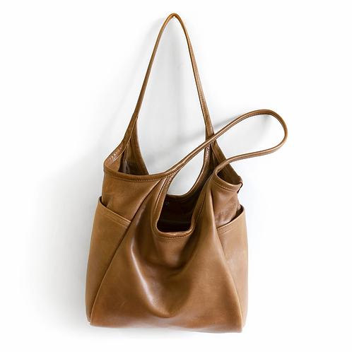 Rough & Tumble Minimal Tote Mojave Shoulder Bag Premium Leather Bag with Pockets