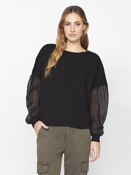 Sheer Sleeve Sweatshirt
