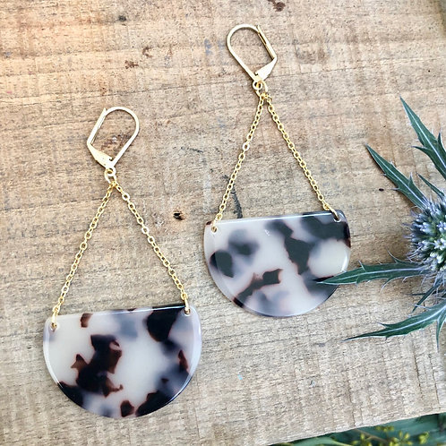 Acrylic Tortoise Gina Dangle Earrings Weightless