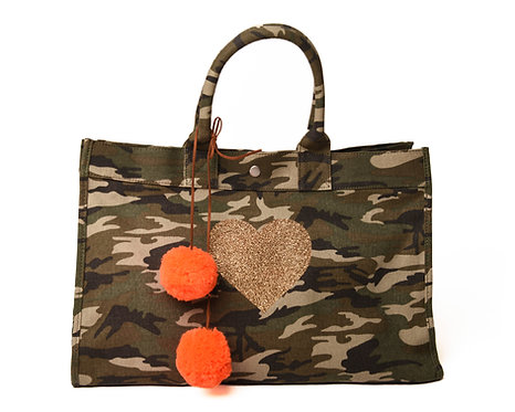 East-West Bag Green Camouflage