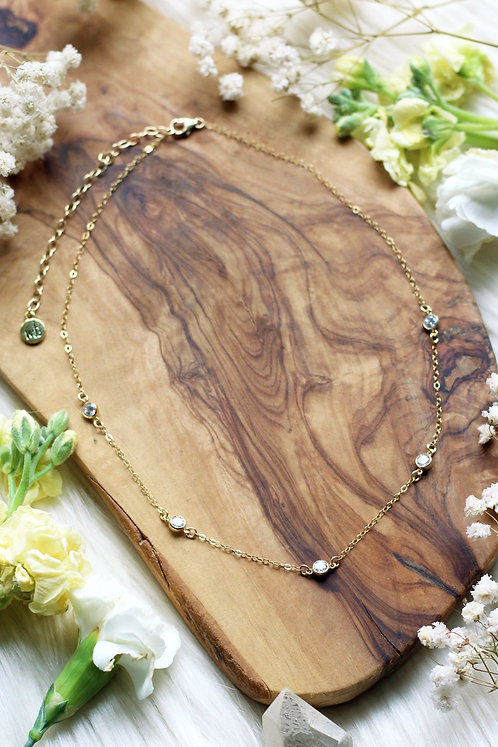 Celestial Drip Gold Necklace
