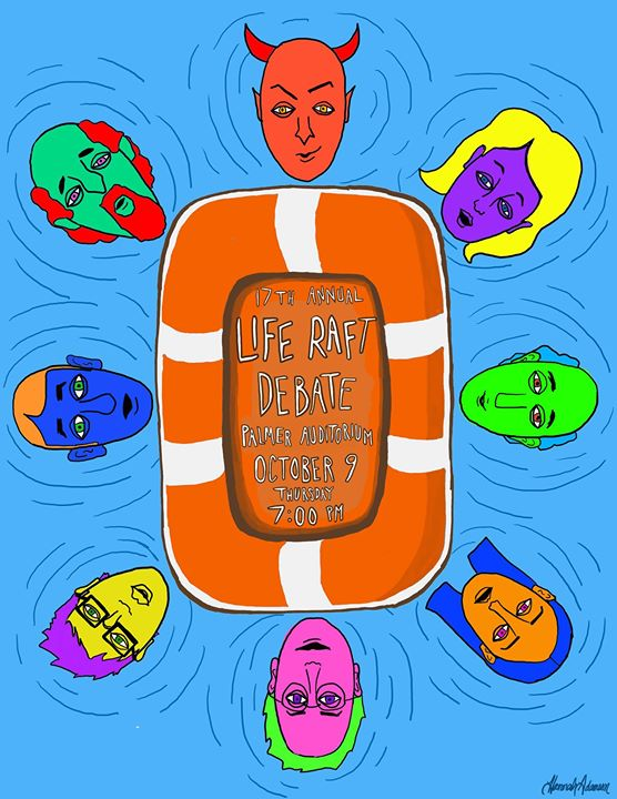 AYE YALL, the Life Raft Debate is October 9th at 7! Who's gonna get that last spot of the raft_ NO O