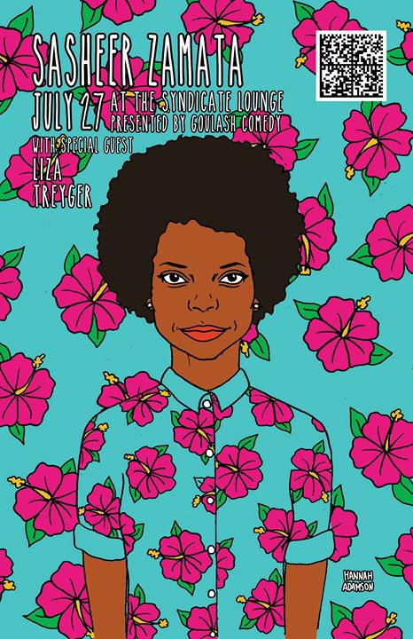 Really pumped that I got to do a poster for Sasheer Zamata (from SNL)! She's doing stand-up at the