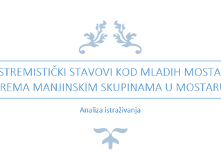 Istraživanje o ekstremističkim stavovima mladih prema manjinskim skupinama u Mostaru