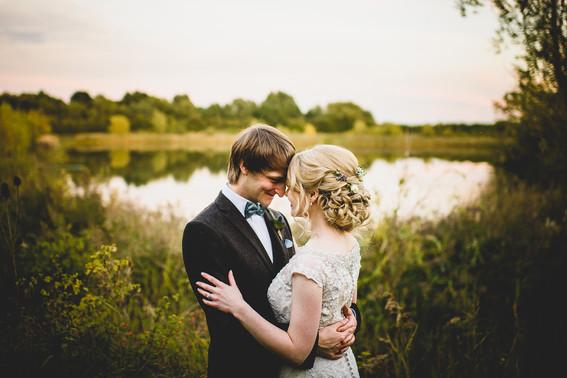 Bride and Groom South Farm