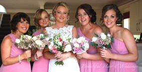 Bride and Bridesmaids at Layer Marney Tower