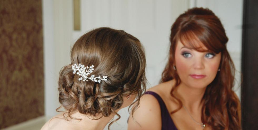 Bride and Maid Wedding Hair Pontlands Park