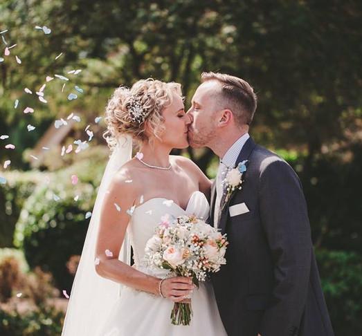 Wedding hair Suffolk Bride and Groom