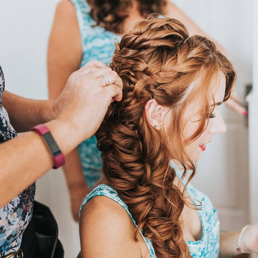 Hair styled by Tina Crossley Essex Wedding Hairstylist