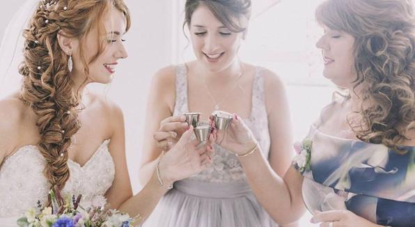 Wedding Hair for three beautiful ladies