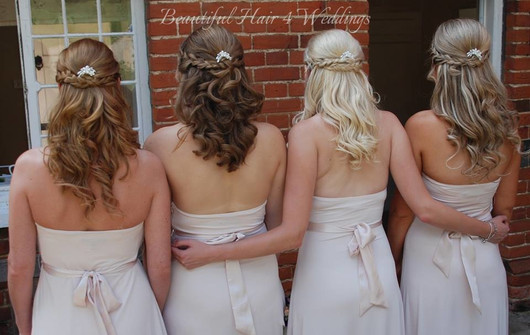 Bridesmaids at Hedingham Castle