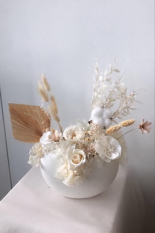 Snow White- Preserved Flower Vase