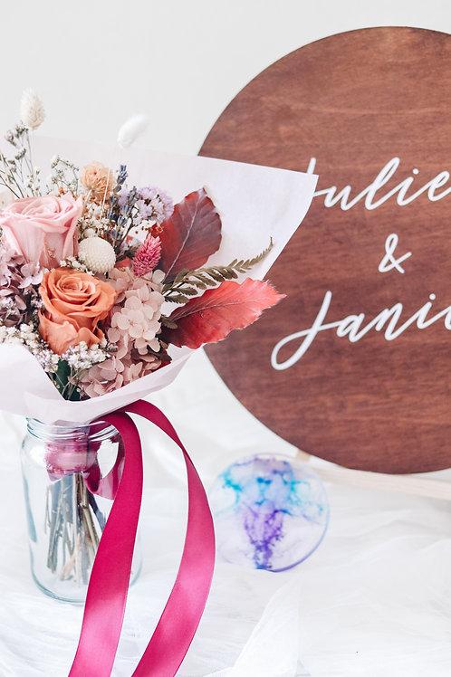 Wedding DIY: Flower Jar + Sign + Ring Dish