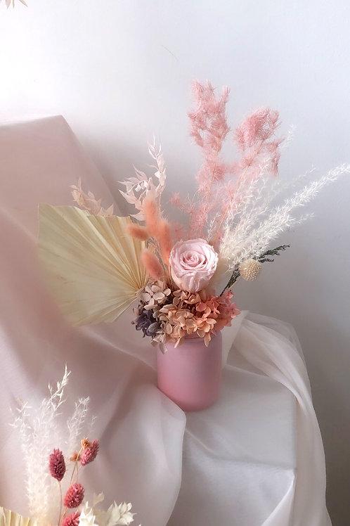 New Life- Upcycled Preserved Flower Jar