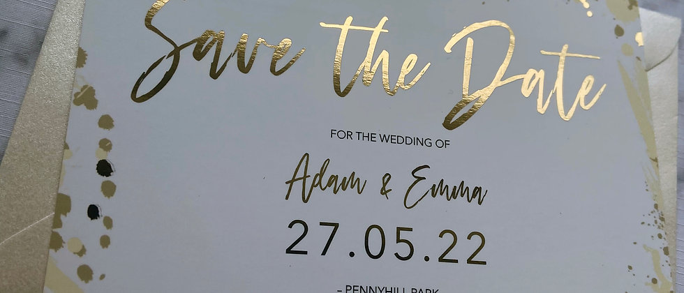 Foil Save the Date, Luxury Save the Date, Neutral Save the Date, Modern Save the Date, Ivory Save the Date