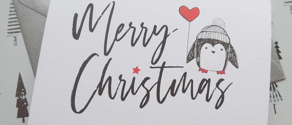 Penguin Christmas Cards, Cute Christmas Card Set, Animal Christmas Card Pack, Multipack Christmas Cards, Charity Donation,