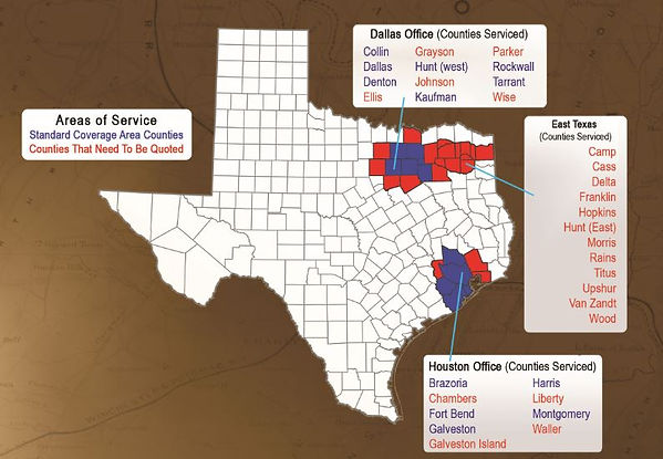 Service Areas _ CBG Texas Land Surveyors