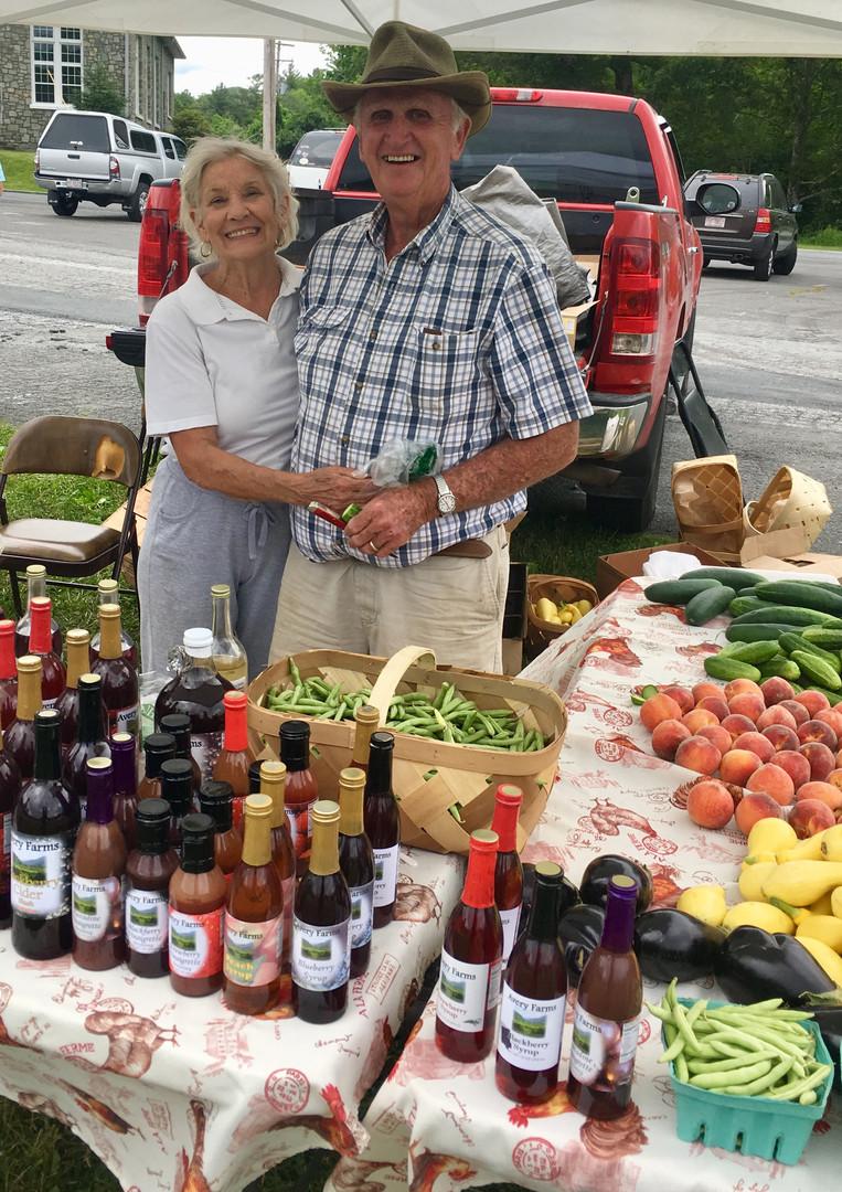 Linda & Waightstill at Farmers Market