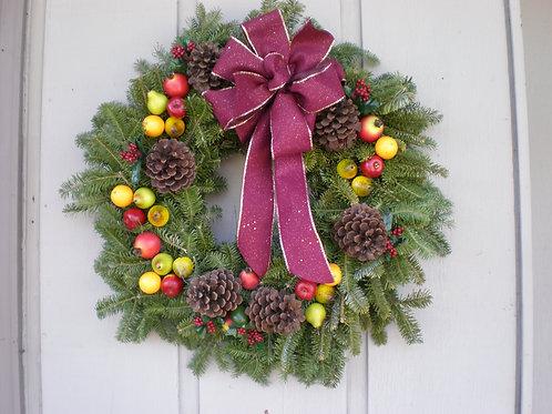 Fruit Wreath w/ribbon