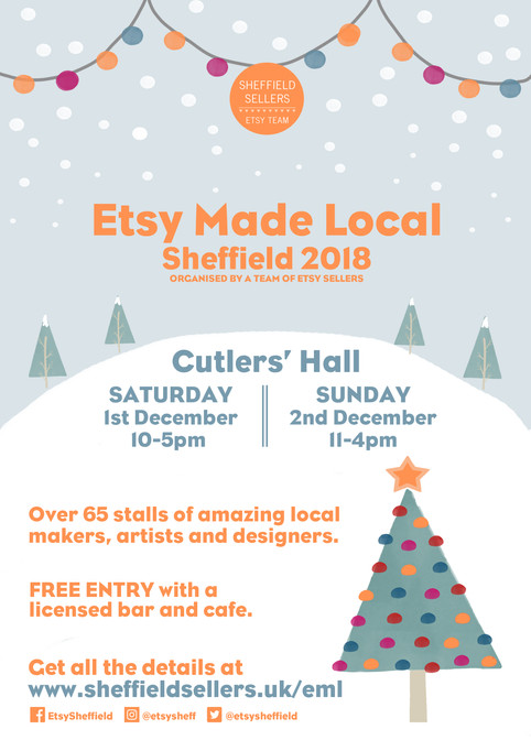Etsy Made Local Sheffield 2018 - Poster design