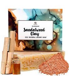 African Sandalwood Essential Oil Kaolin Clay Goats MilkOlive Oil Shea Butter Soap