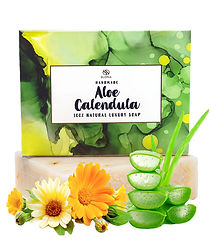 Aloe Vera Calendual Natural Soap Shea Butter Coconut Oil Soap