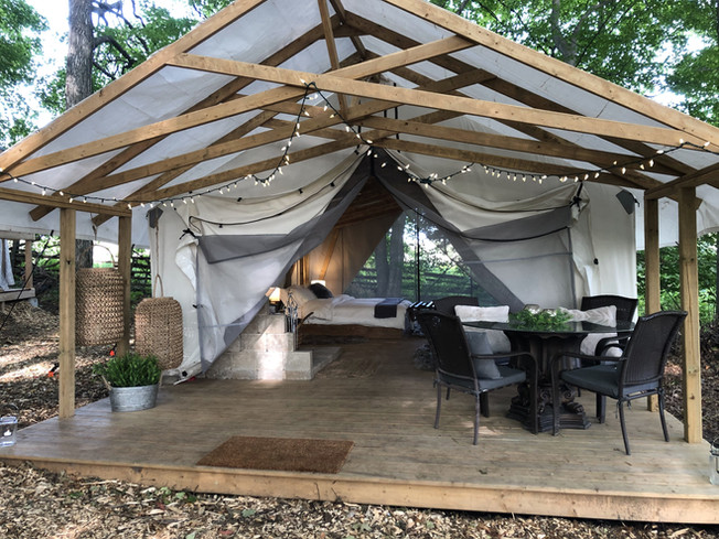 The Platinum Hideout Glamping Tent