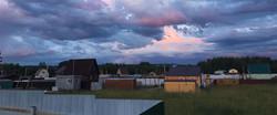 вечернее небо над поселком