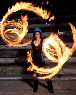Fire show performer eater in Portland Or