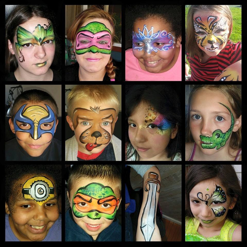 Professional Face Paint with Earth Fairy