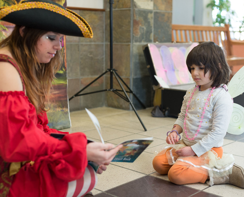 Pirate character appearance from Earth Fairy Entertainment, adventure club, childrens activities, party planning, kids fun Portland Hillsboro Beaverton girl