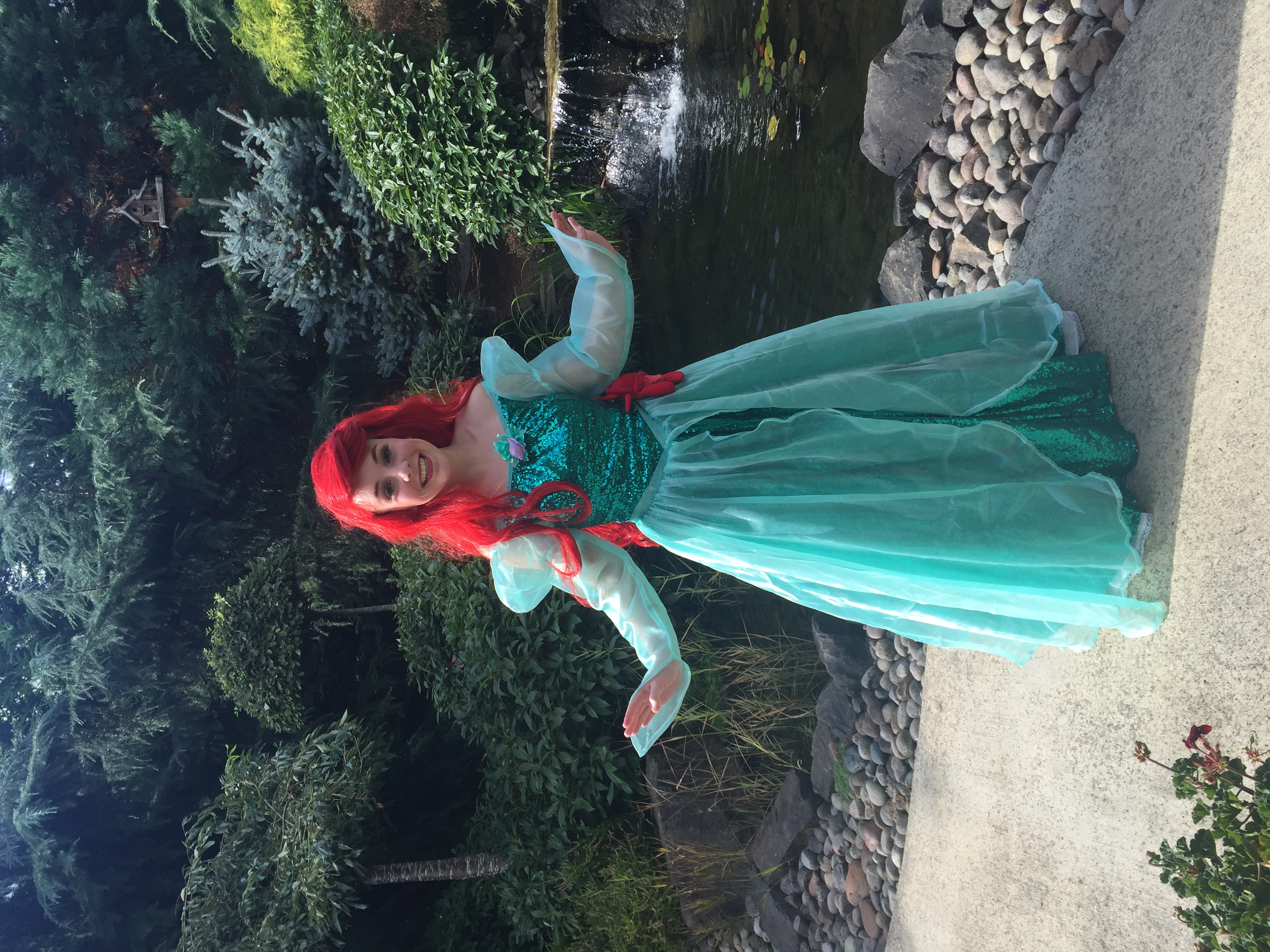 Princess party with Earth Fairy Entertainment in Portland Oregon, Mermaid for Little kids, impersona