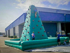 Rock Climbing Wall Inflatable Game with