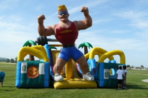 Iron Man Inflatable Obstacle Course clim
