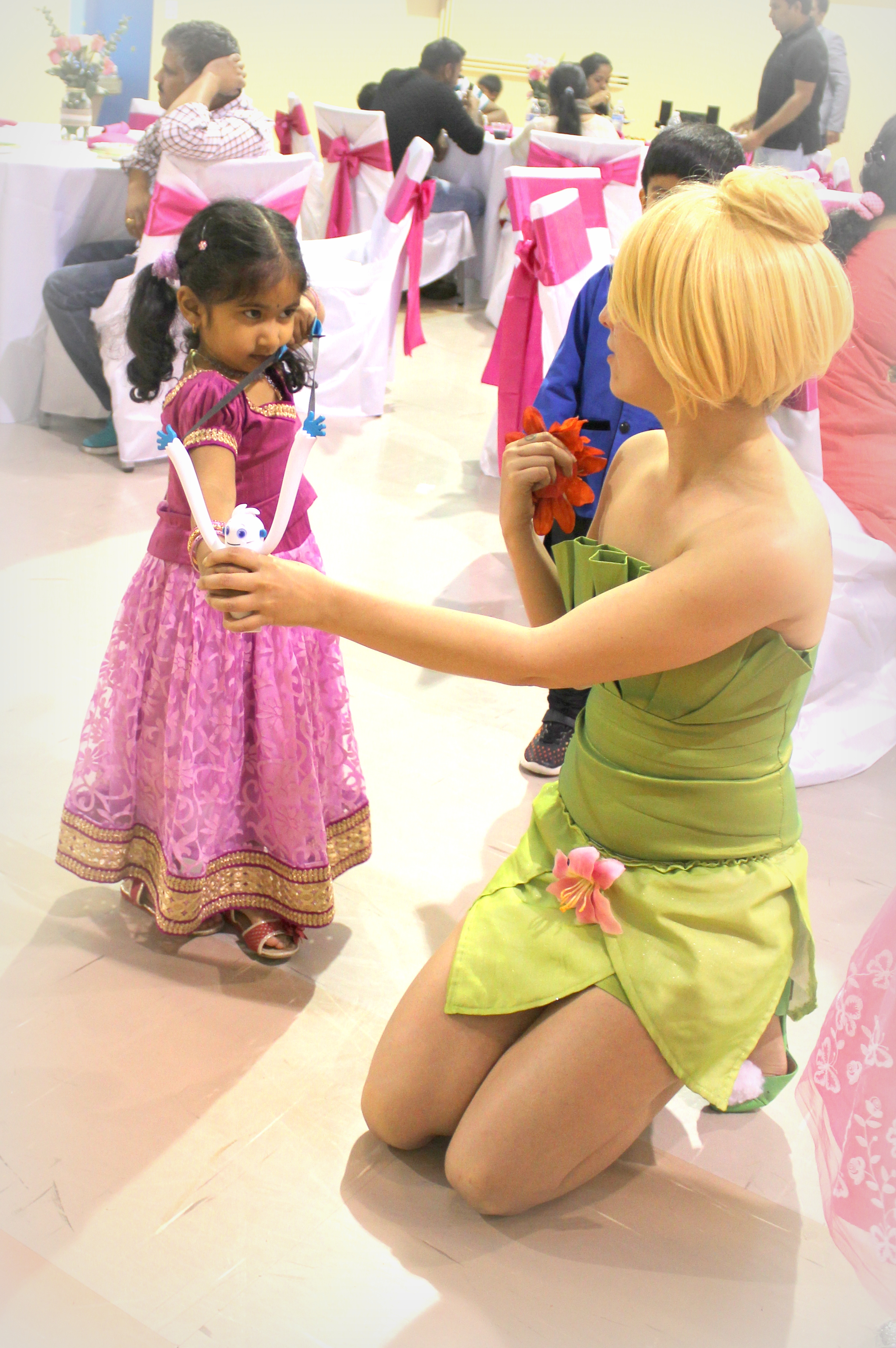 Tinkerbell look alike costume character appearance with Earth Fairy Entertainment, princess party, P