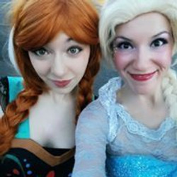 Elsa and Anna look alike character appearance with earth Fairy Entertainment in