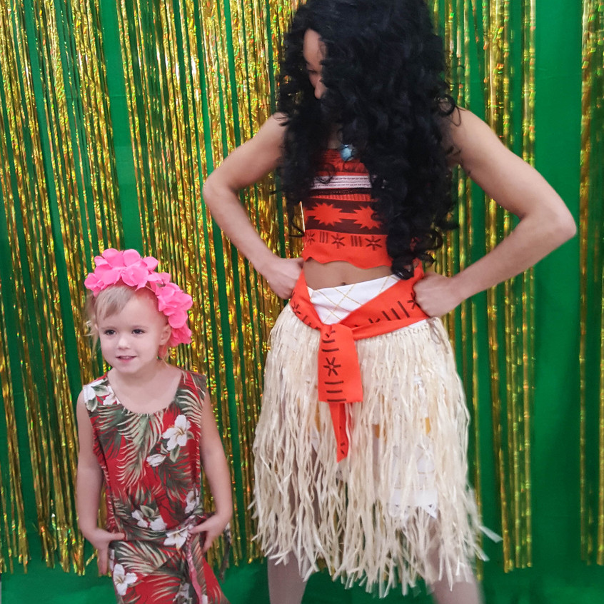Princess Party with Earth Fairy Entertainment in Portland Oregon, corporate entertainers, Moana impersonator, birthday character.