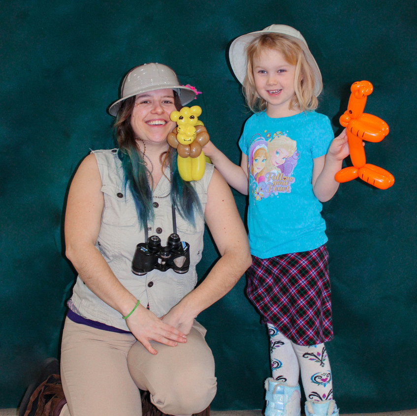 Animal Safari Party Character with Earth Fairy Entertainment in Portland Oregin, kids event, themed, entertainer, pets