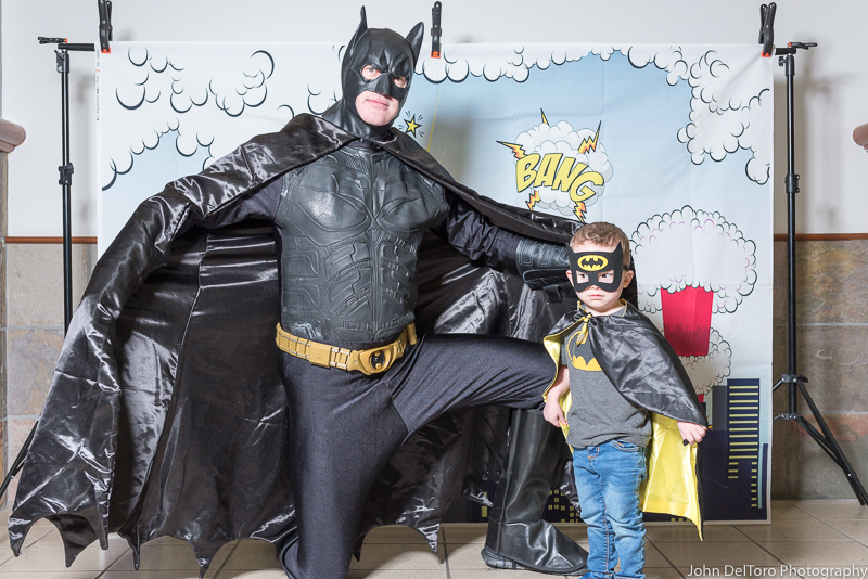 Bat Hero Man costume character appearance by Portland Party Characters in Oregon, kids super hero birthday party, hire professional entertainer, Hillsboro, Vancouver, pla