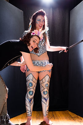 Warrior Princess Body Paint By Professional Artist Sarah Pearce In Portland Oregon For Hire Costum