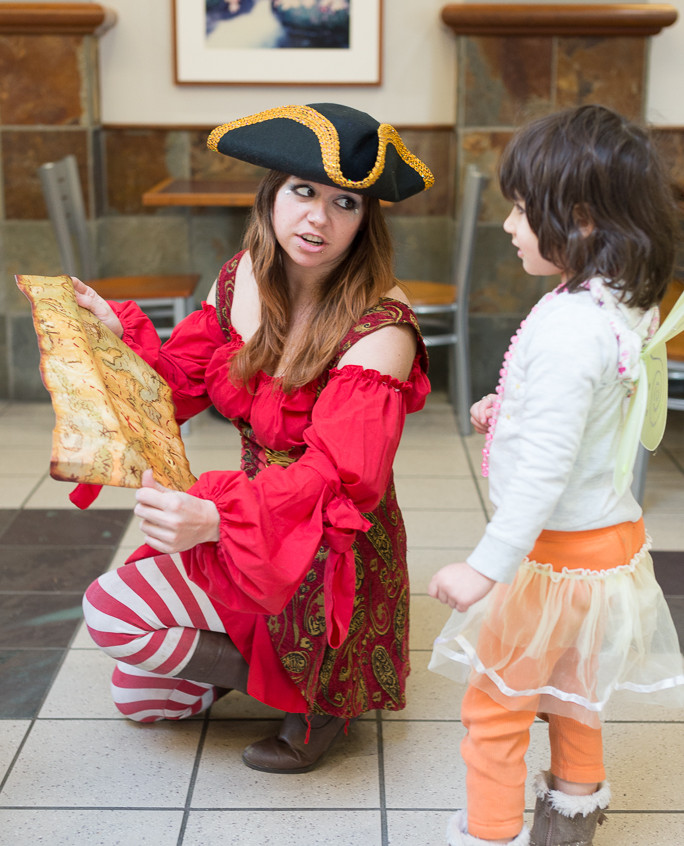 Pirate character appearance from Earth Fairy Entertainment, adventure club, childrens activities, party planning, kids fun Portland Hillsboro Beaverton map