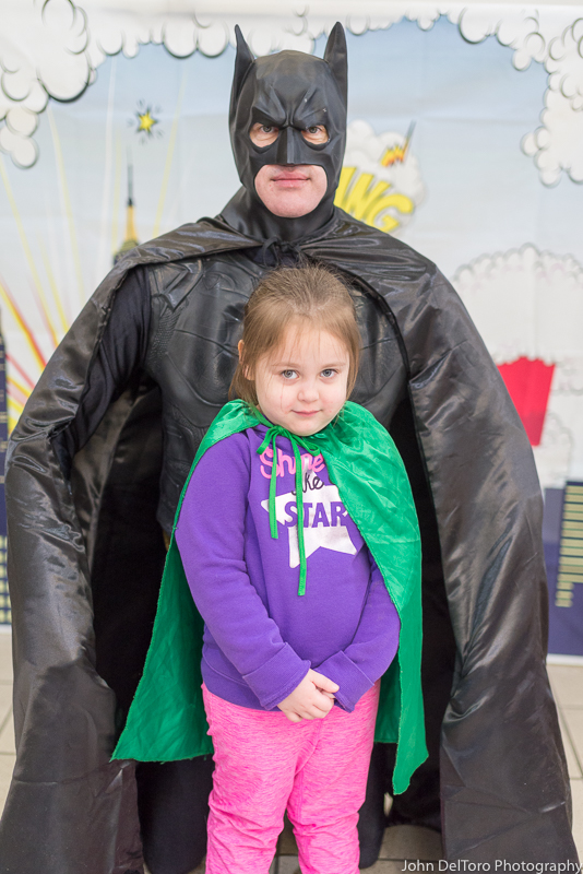 Bat Hero Man costume character appearance by Portland Party Characters in Oregon, kids super hero birthday party, hire professional entertainer, Hillsboro, Vancouver, chi