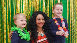Princess Party with Earth Fairy Entertainment in Portland Oregon, corporate entertainer, Moana imper