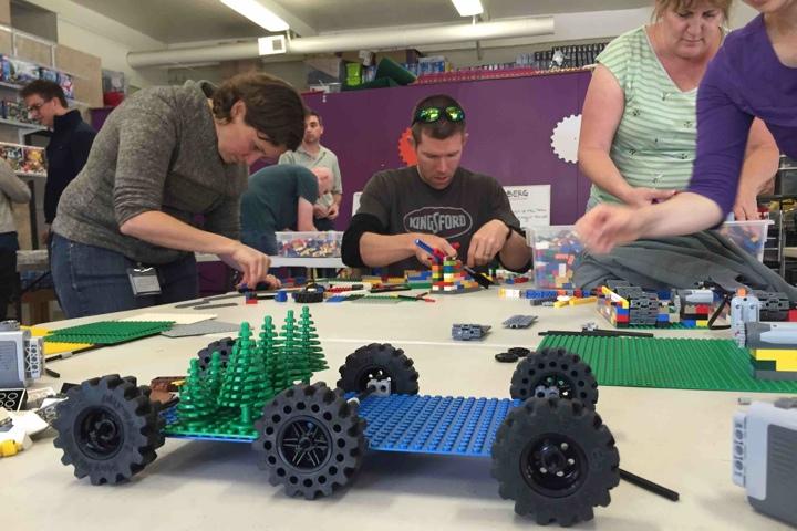 Lego Adult Company Team Building or Birt
