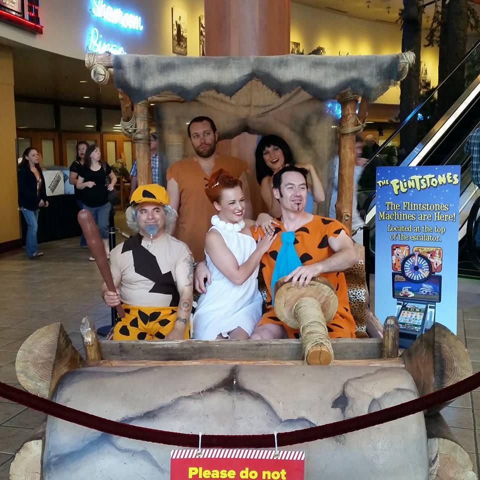Earth Fairy Entertainment provides the Flintstones look alike for Chinook Winds