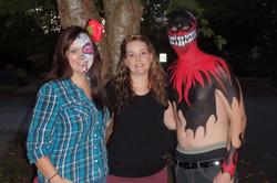 Halloween 2015, artist Sarah Pearce with Earth Fairy Entertainment in Portland O