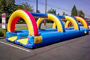 Giant Inflatable Slip and Slide with Ear